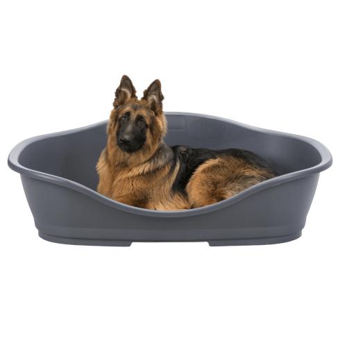 Plastični krevet za pse sivi