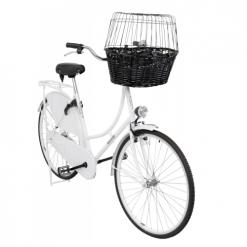 Korpa za psa za bicikl crna